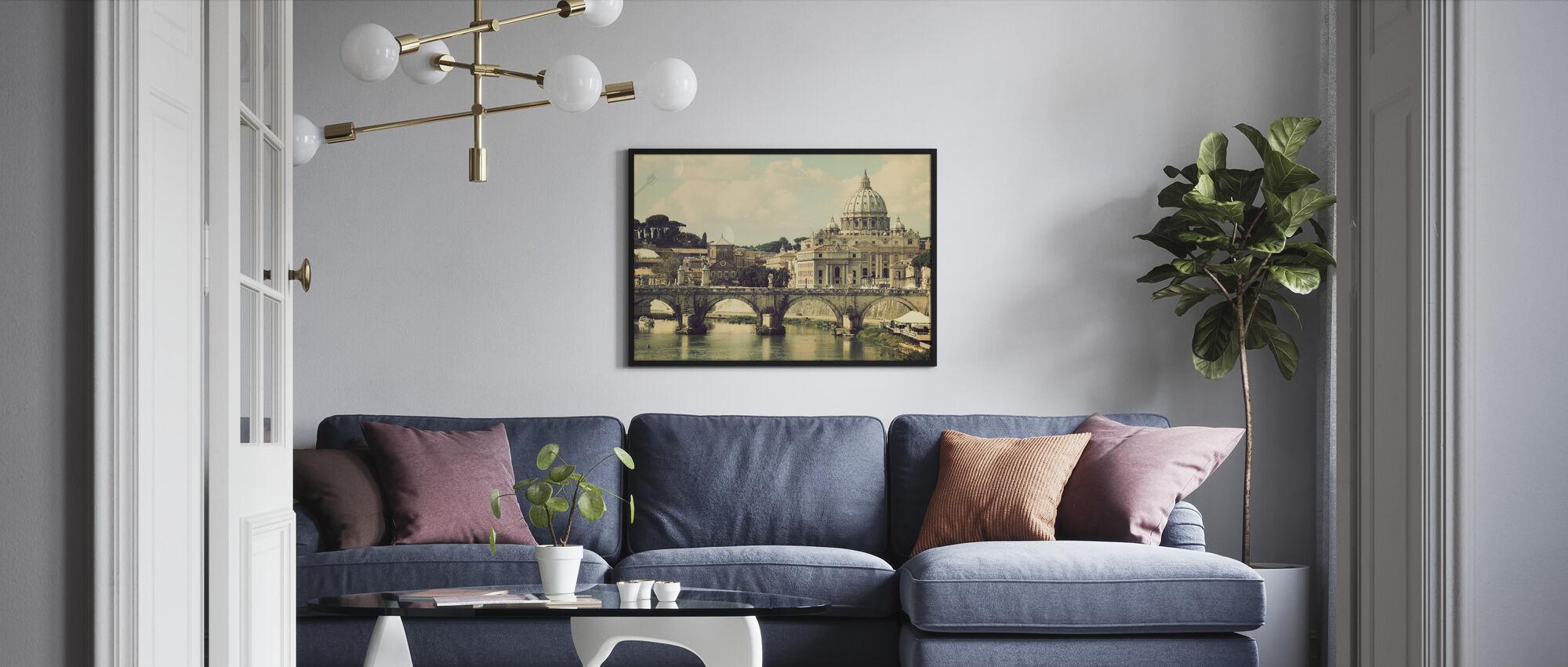 Rome - Sunny San Pietro - Framed print - Living Room