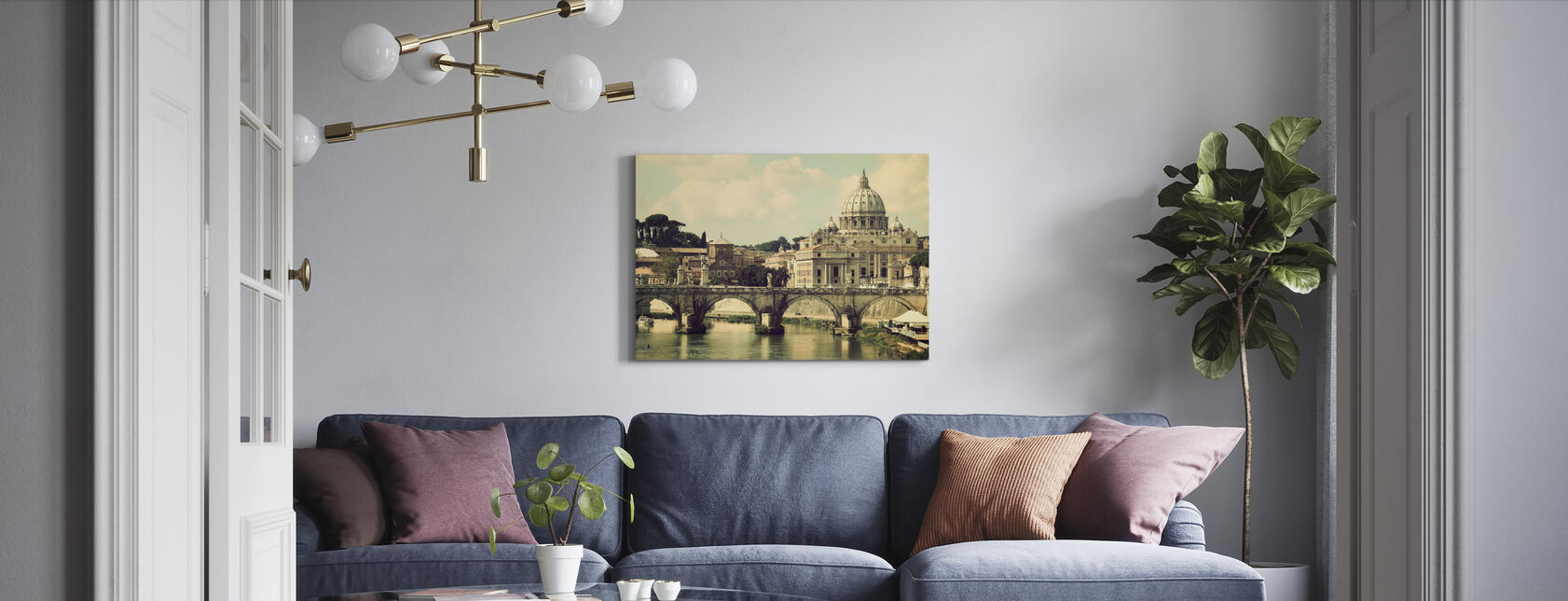 Rome - Zonnig San Pietro - Canvas print - Woonkamer