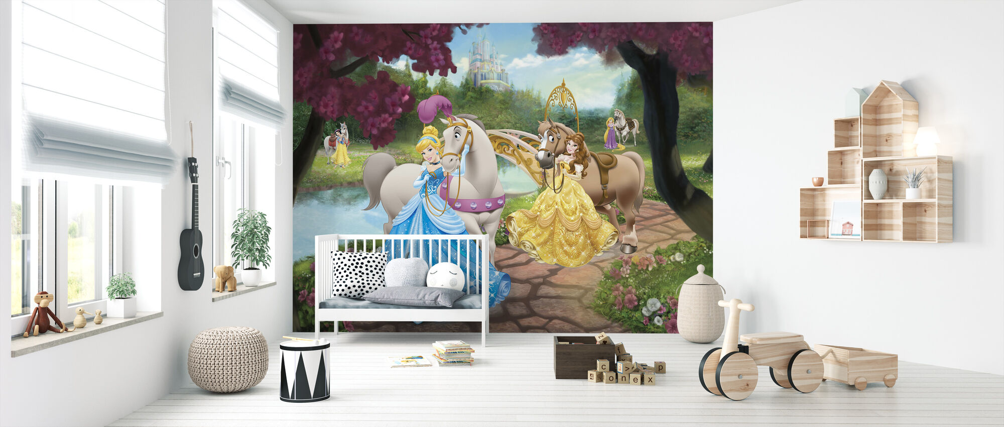 Disney Princess - Hevoset - Tapetti - Vauvan huone