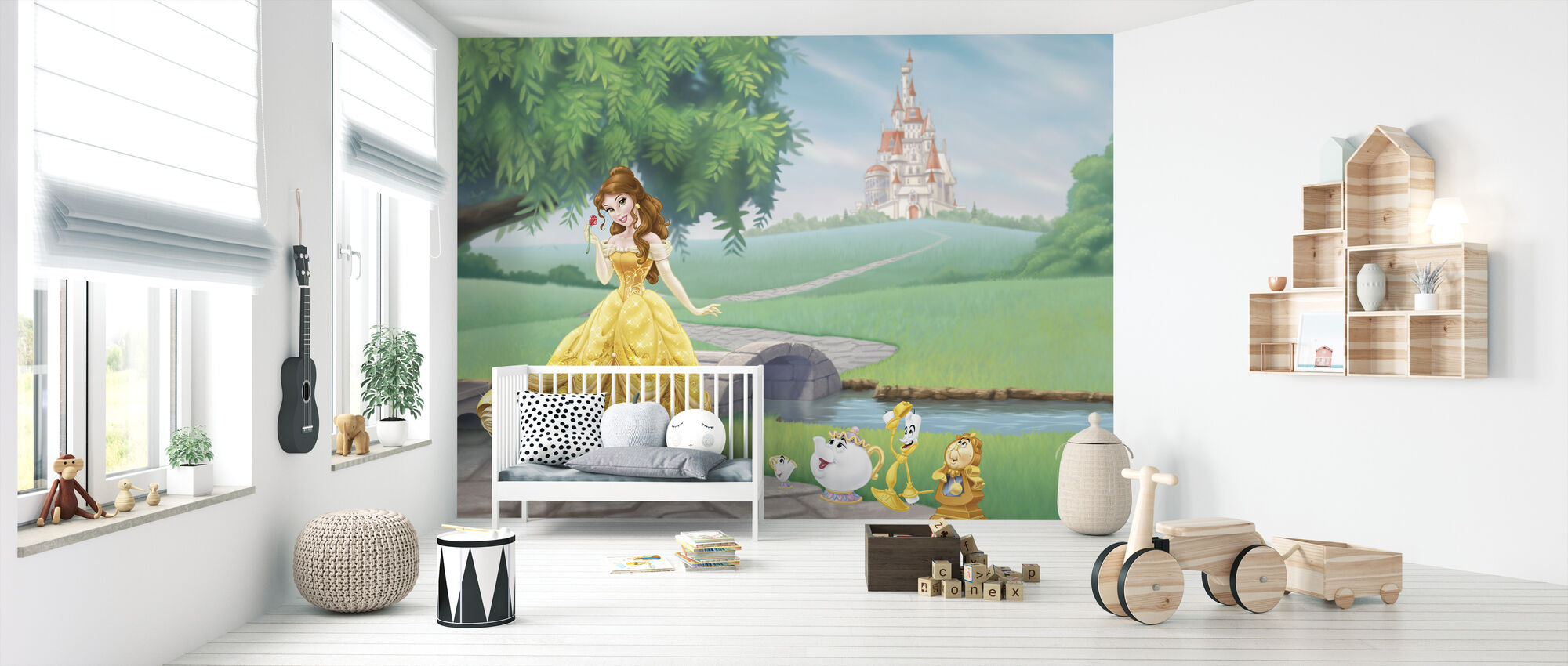 Disney Princess - Belle - Tapetti - Vauvan huone