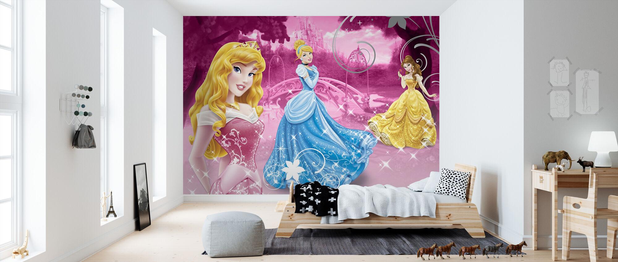 Disney Prinsessa Vaaleanpunainen - Tapetti - Lastenhuone