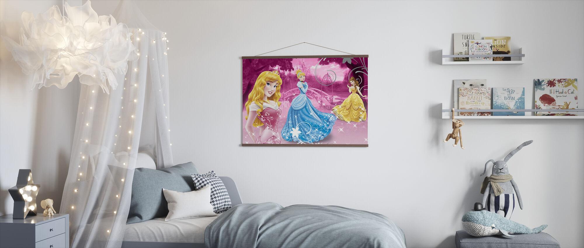 Disney Prinsessa Vaaleanpunainen - Juliste - Lastenhuone