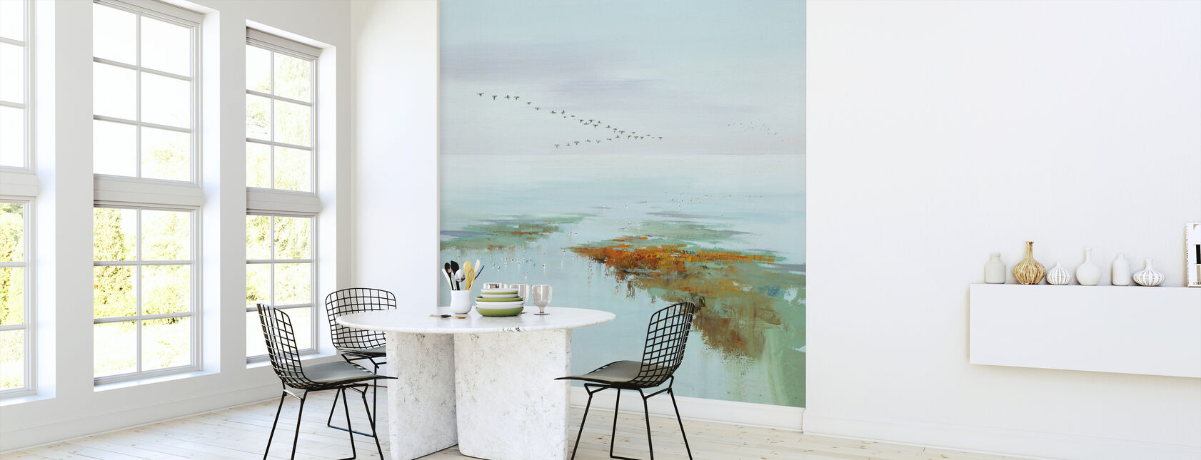 Vliegende vogels - Behang - Keuken