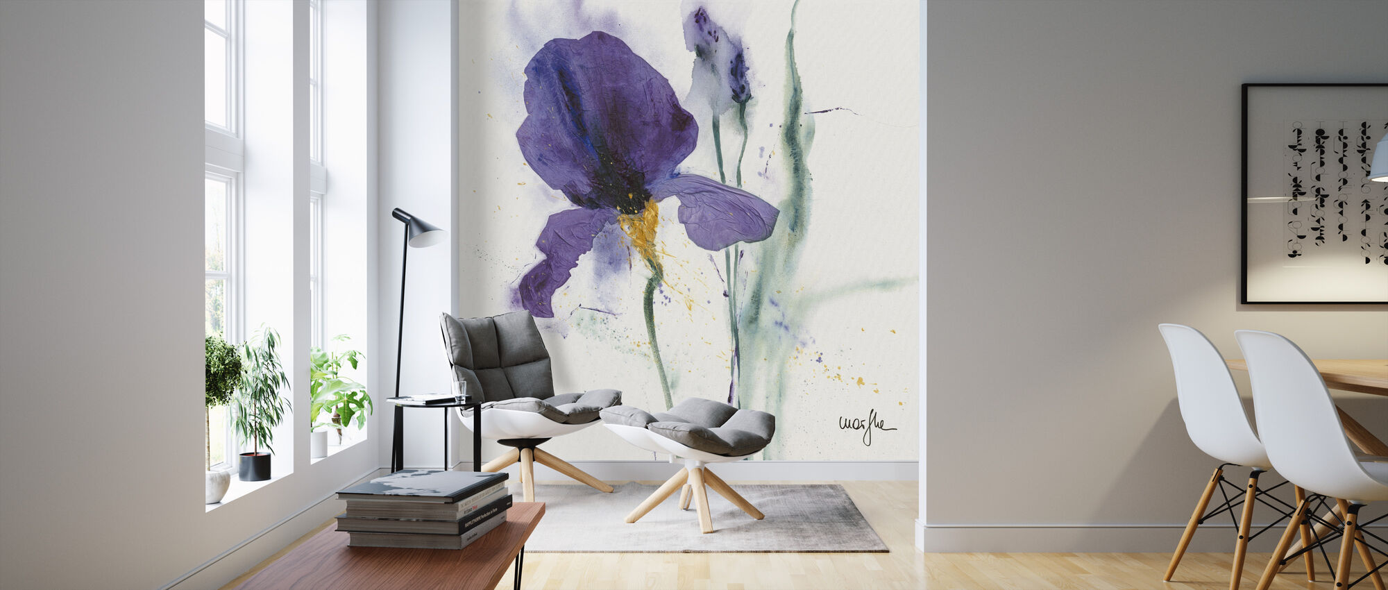 Iris - Wallpaper - Living Room