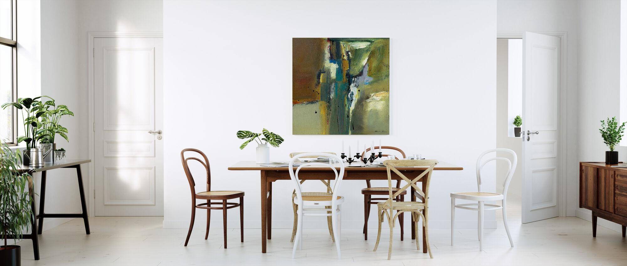 Abstrakt i grönt - Canvastavla - Kök