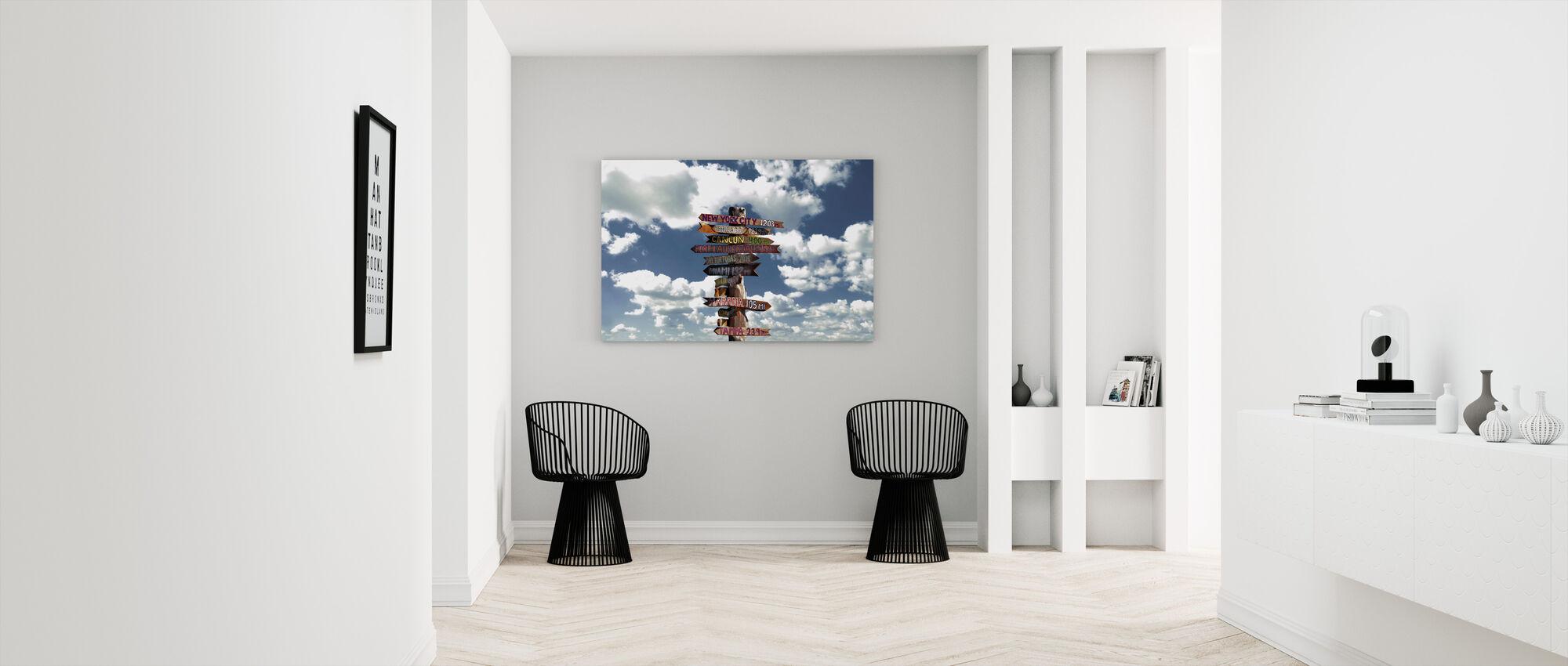 Key West Florida - himmel med träskylt - Canvastavla - Hall