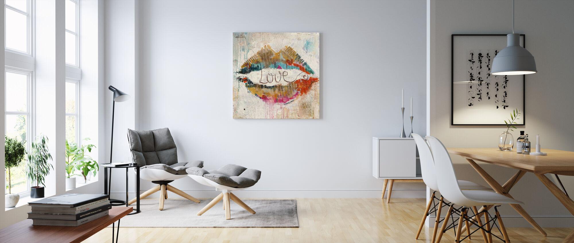 Kärlek - Canvastavla - Vardagsrum