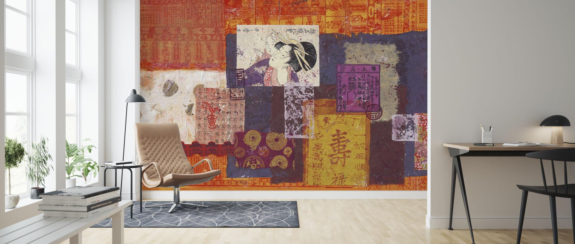 De Geisha en het Kind - Behang - Woonkamer
