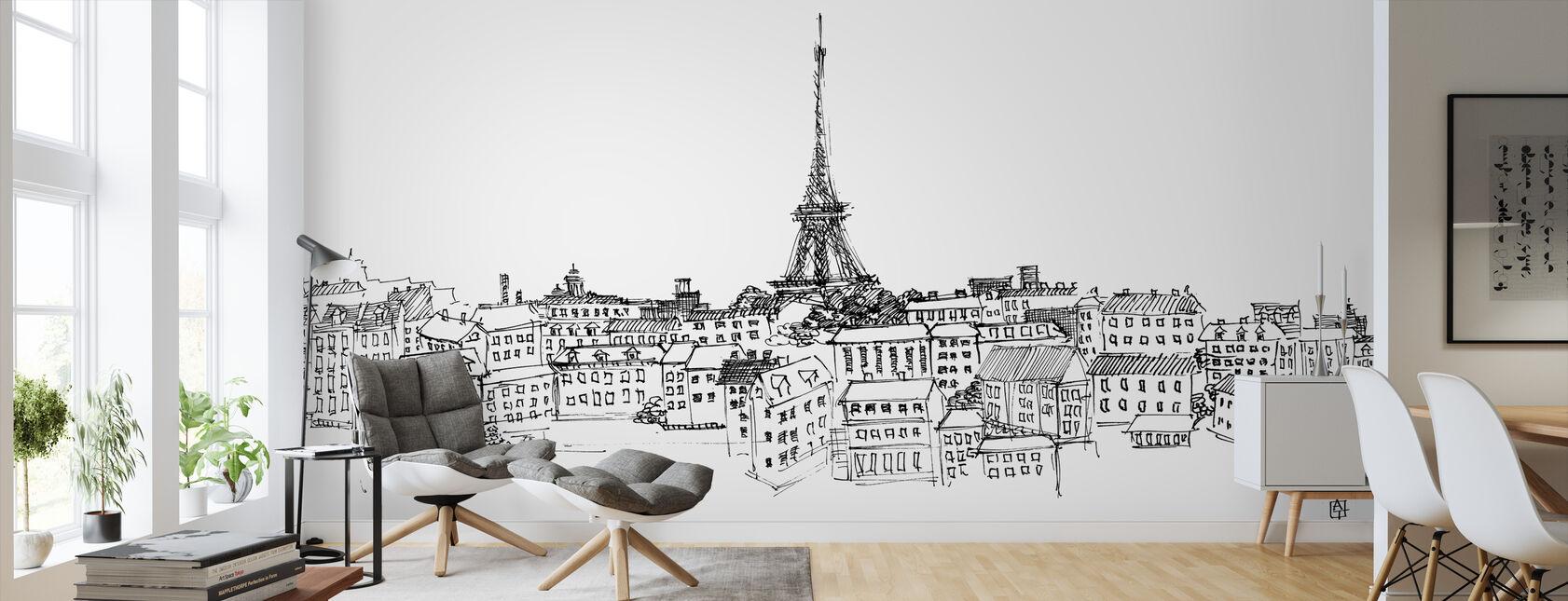 Avery Tillmon - Paris Skyline - Tapet - Stue