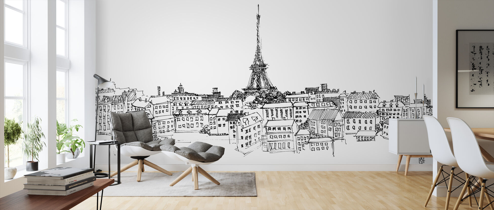 Avery Tillmon - Paris Skyline - Wallpaper - Living Room