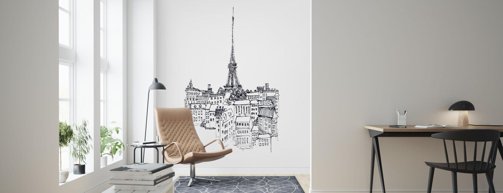 Avery Tillmon - Eiffel Tower - Wallpaper - Living Room