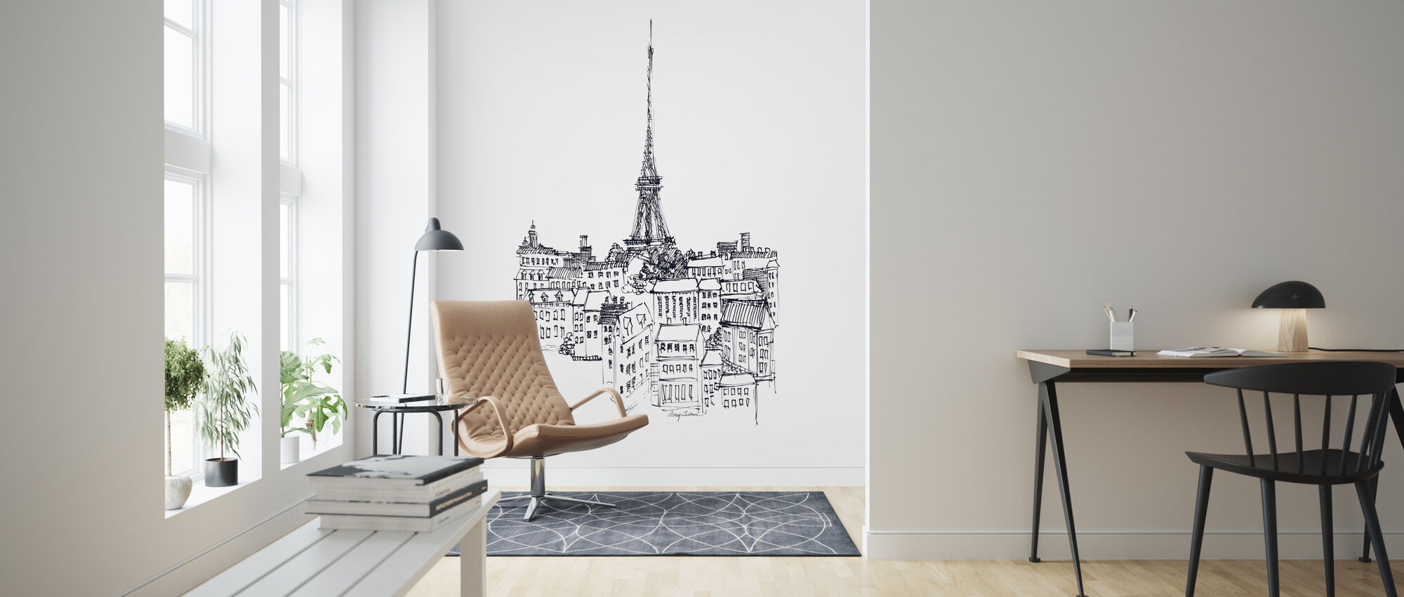 Avery Tillmon - Eiffel Tower - Wallpaper - Living Room