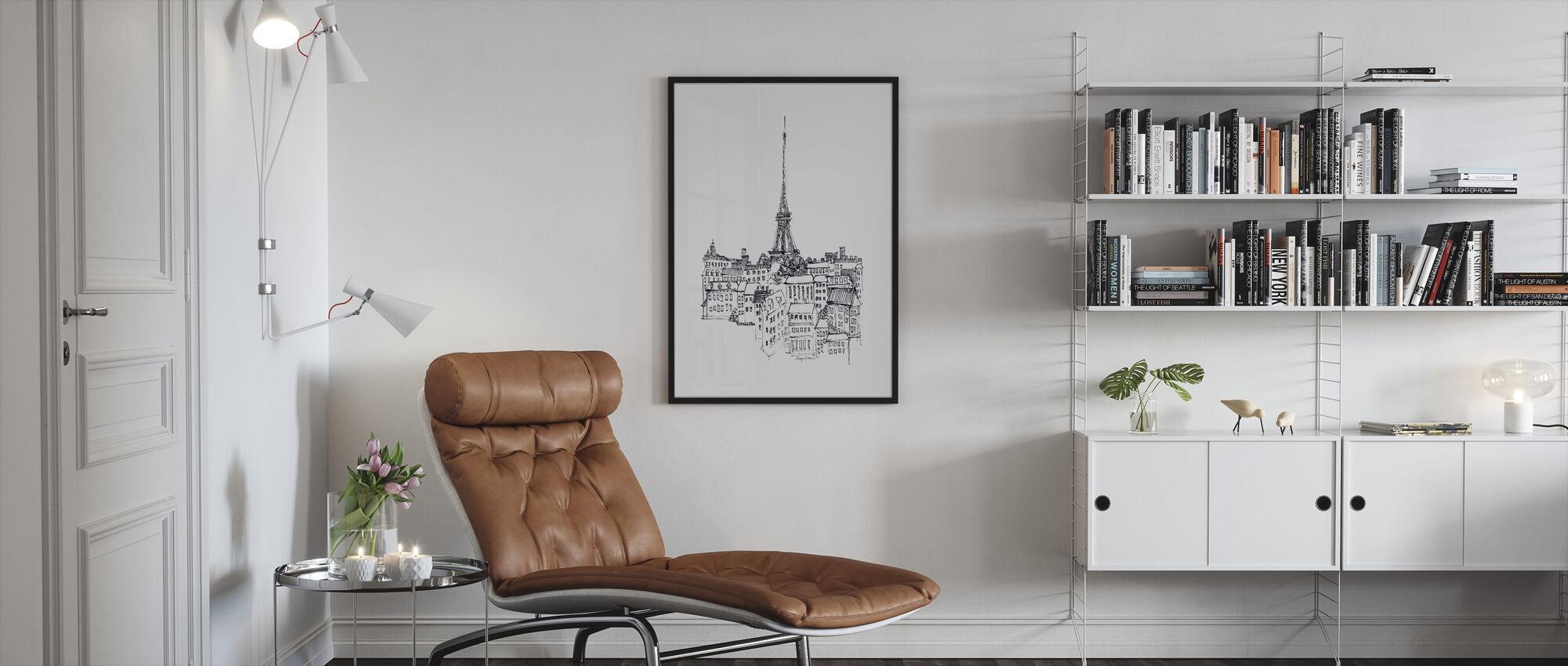 Avery Tillmon - Eiffel-torni - Kehystetty kuva - Olohuone