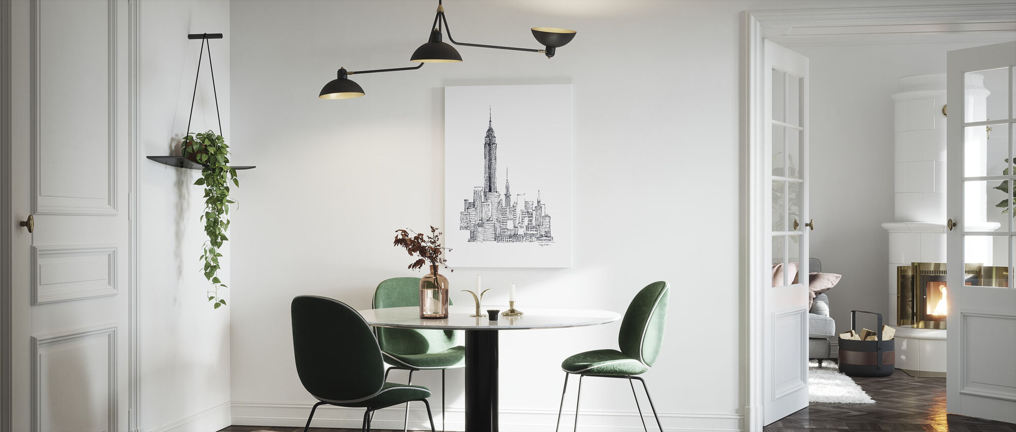 Avery Tillmon - Empire State - Canvas print - Kitchen