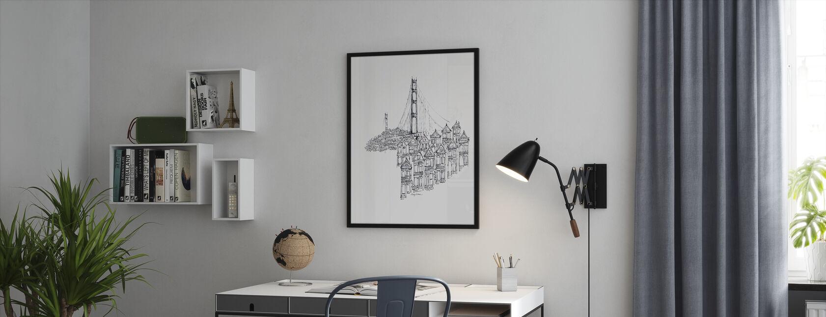 Avery Tillmon - Golden Gate - Framed print - Office