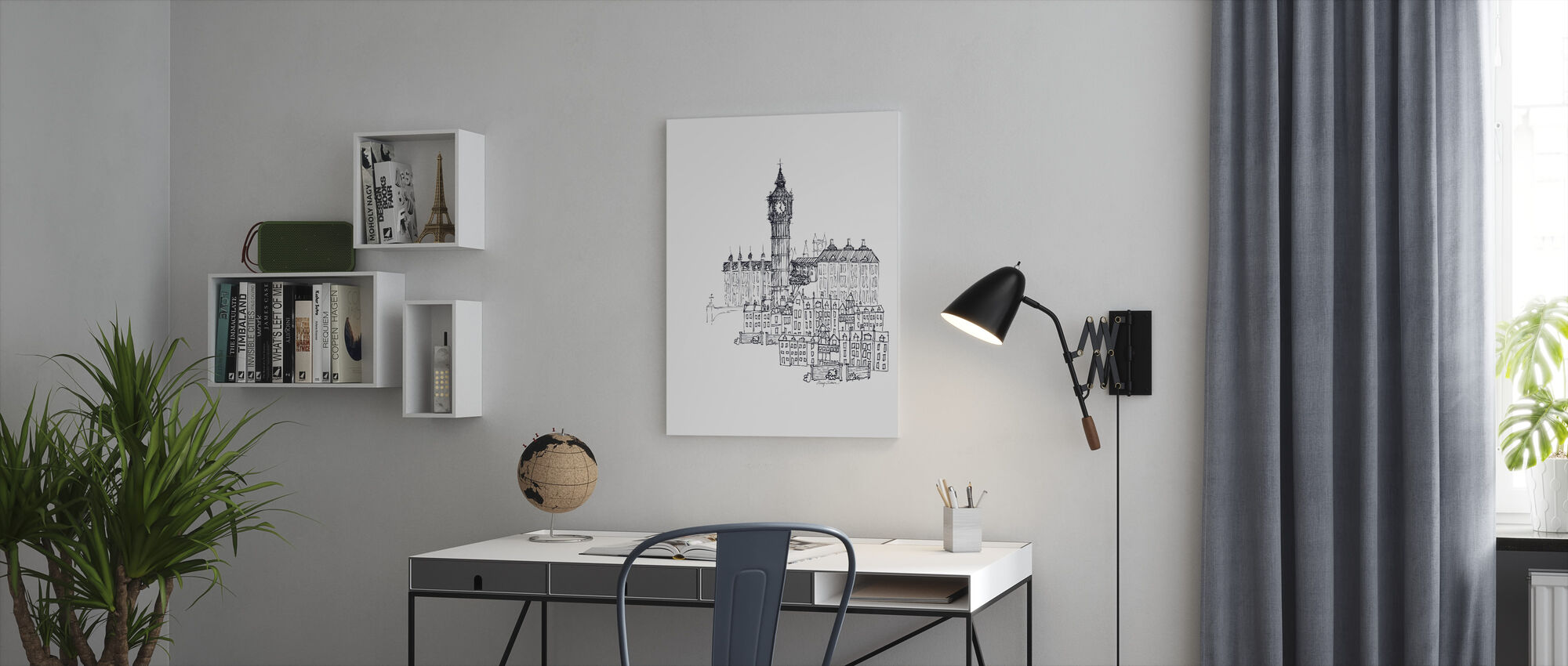 Avery Tillmon - Big Ben - Canvas print - Office