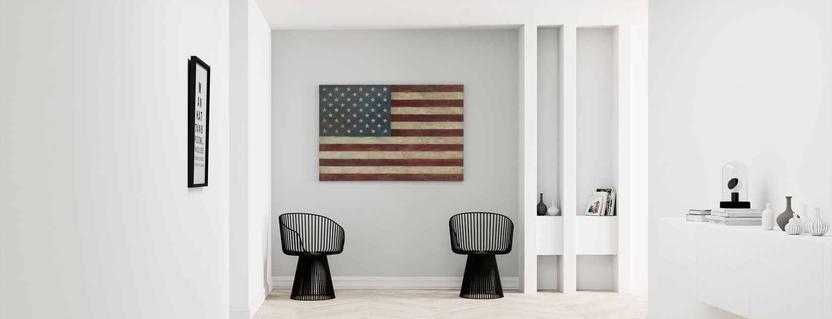 Avery Tillmon - Amerikansk Flag - Billede på lærred - Entré