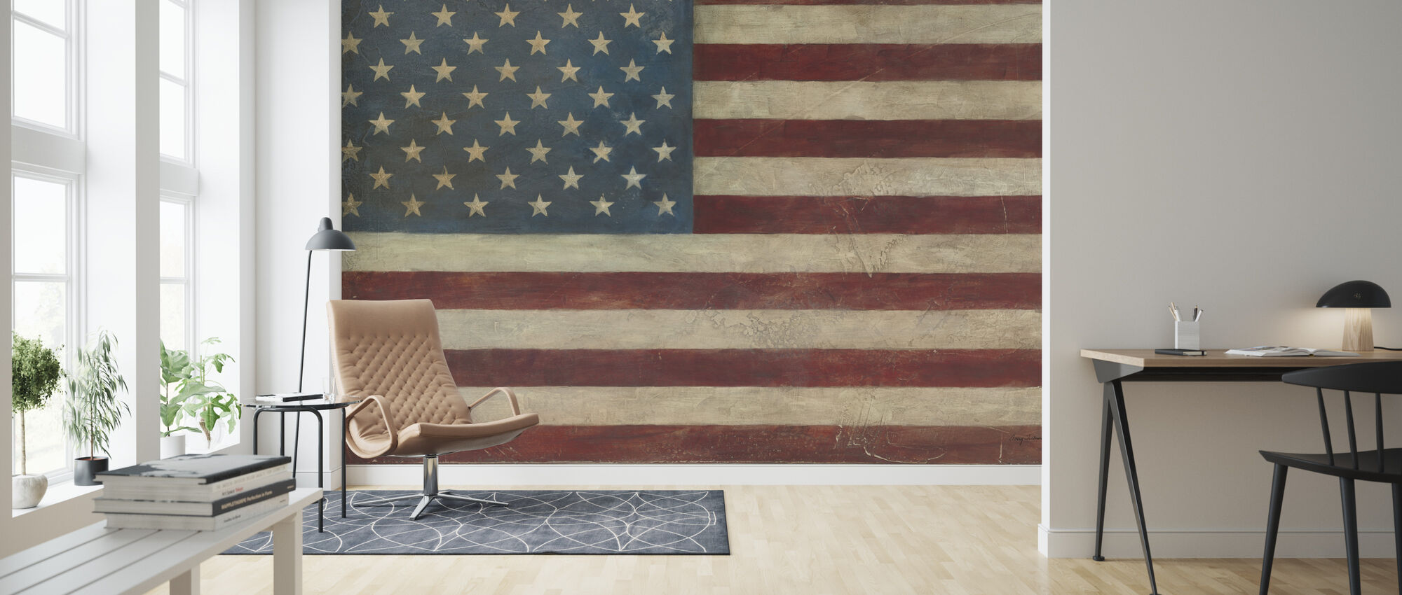Avery Tillmon - American Flag - Wallpaper - Living Room