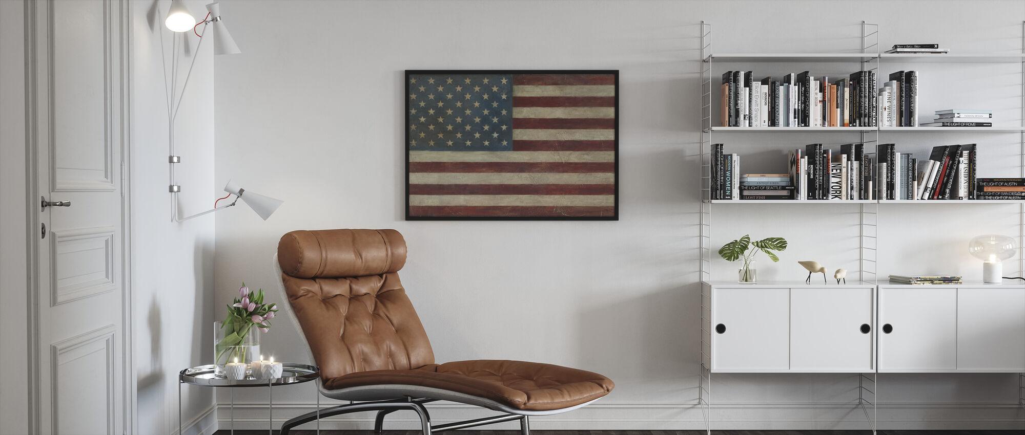 Avery Tillmon - American Flag - Framed print - Living Room
