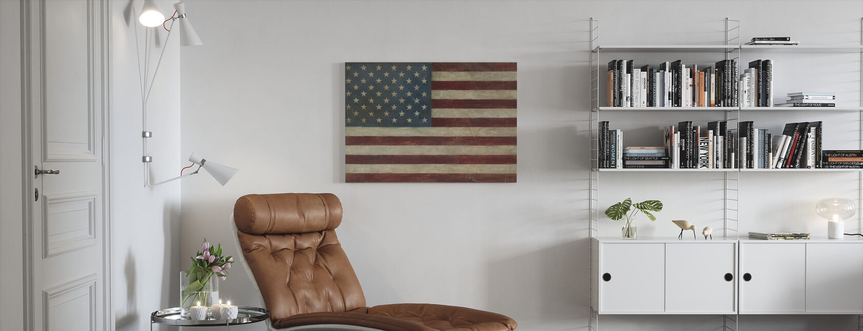 Avery Tillmon - Amerikansk Flag - Billede på lærred - Stue