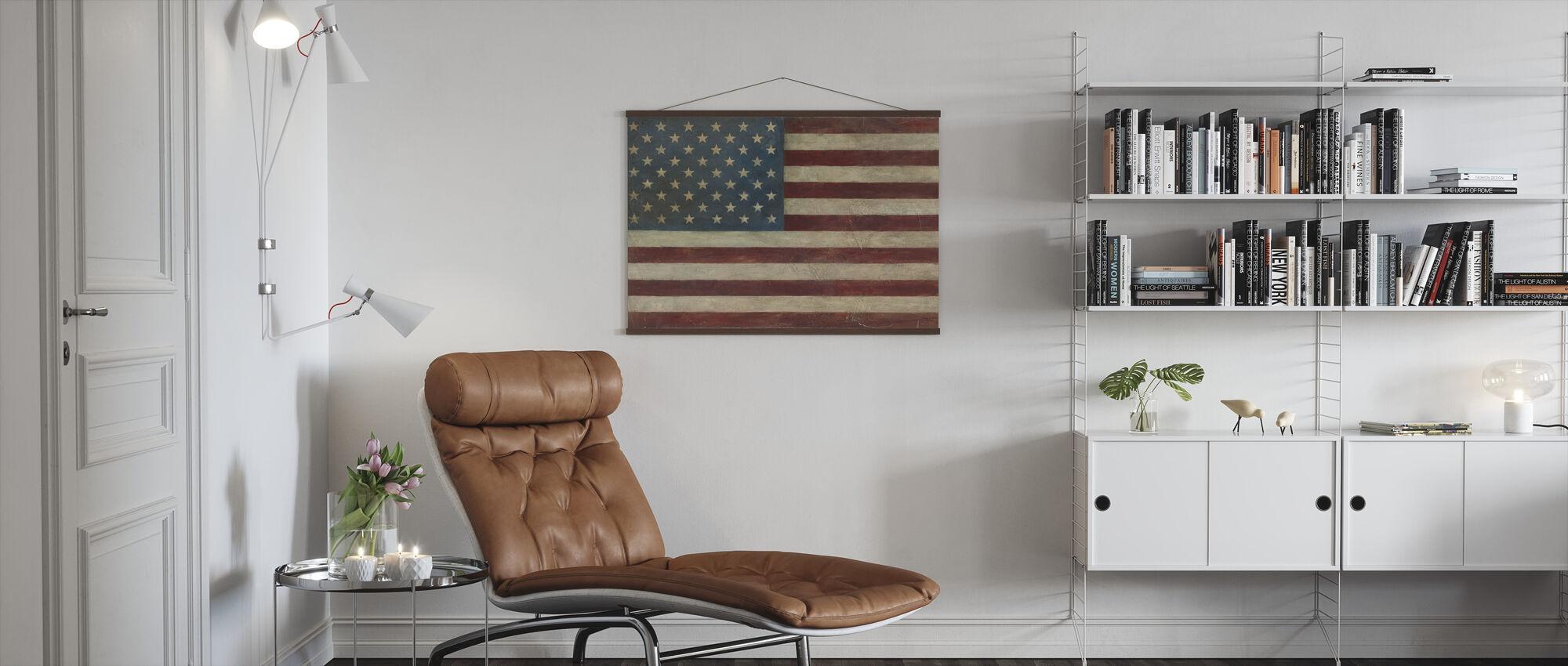 Avery Tillmon - American Flag - Poster - Living Room