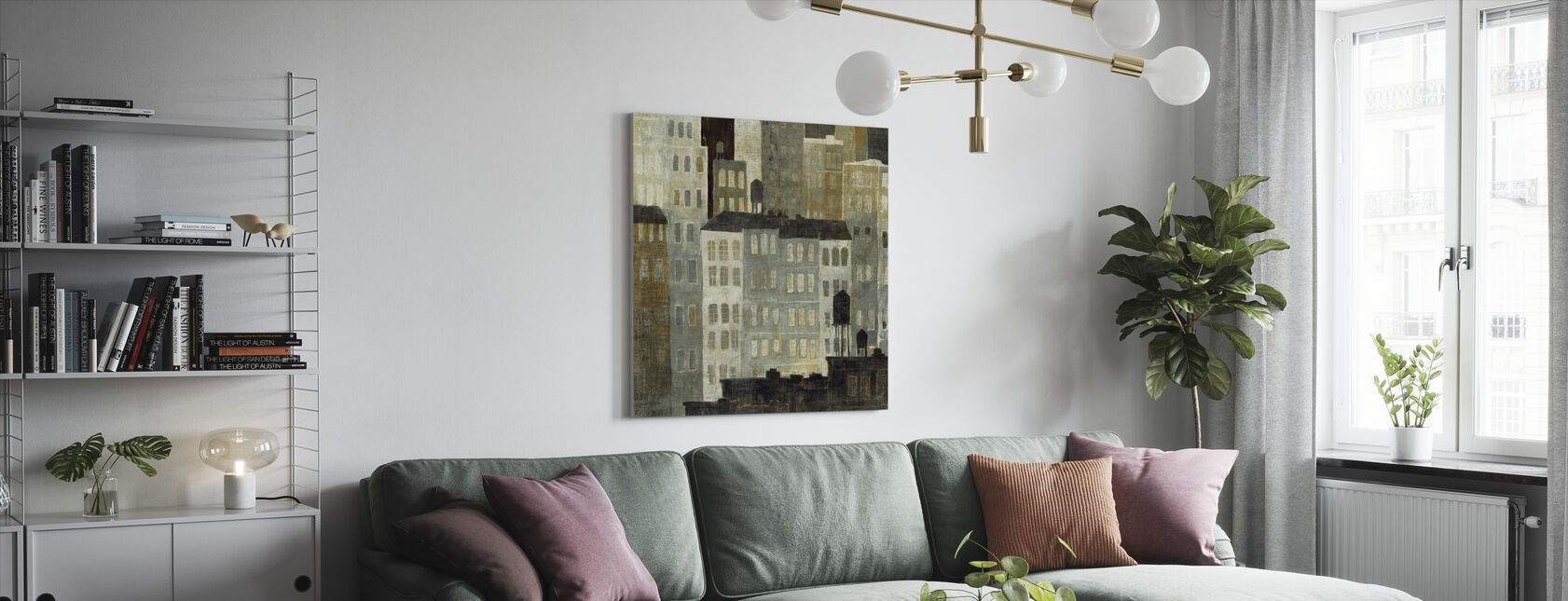 Avery Tillmon - Water Towers - Canvas print - Living Room