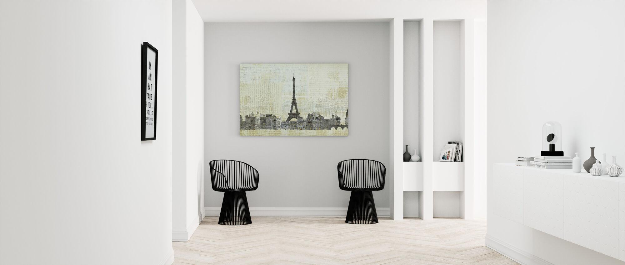 Avery Tillmon - Eiffel Skyline - Canvas print - Hallway