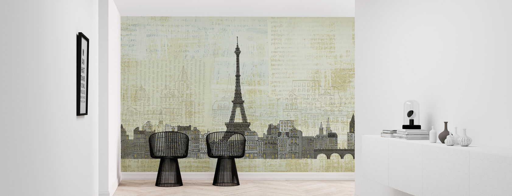 Avery Tillmon - Eiffel Skyline - Wallpaper - Hallway