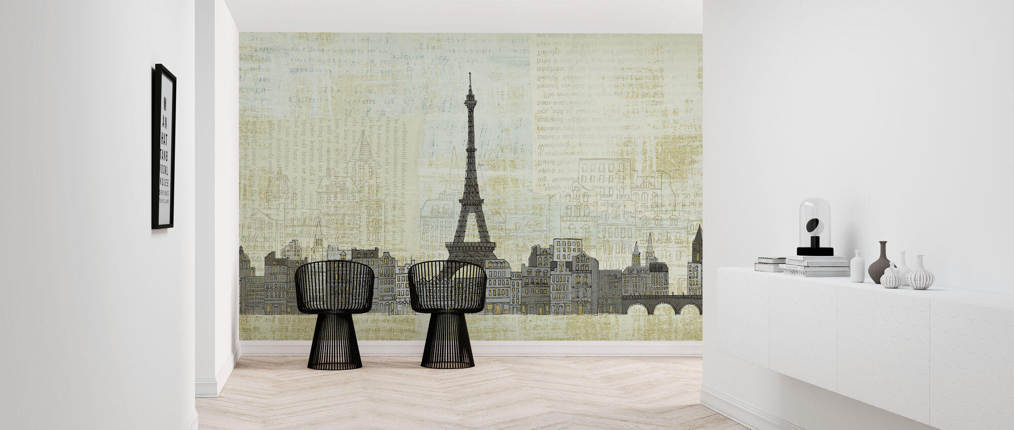 Avery Tillmon - Eiffel Skyline - Wallpaper - Hallway