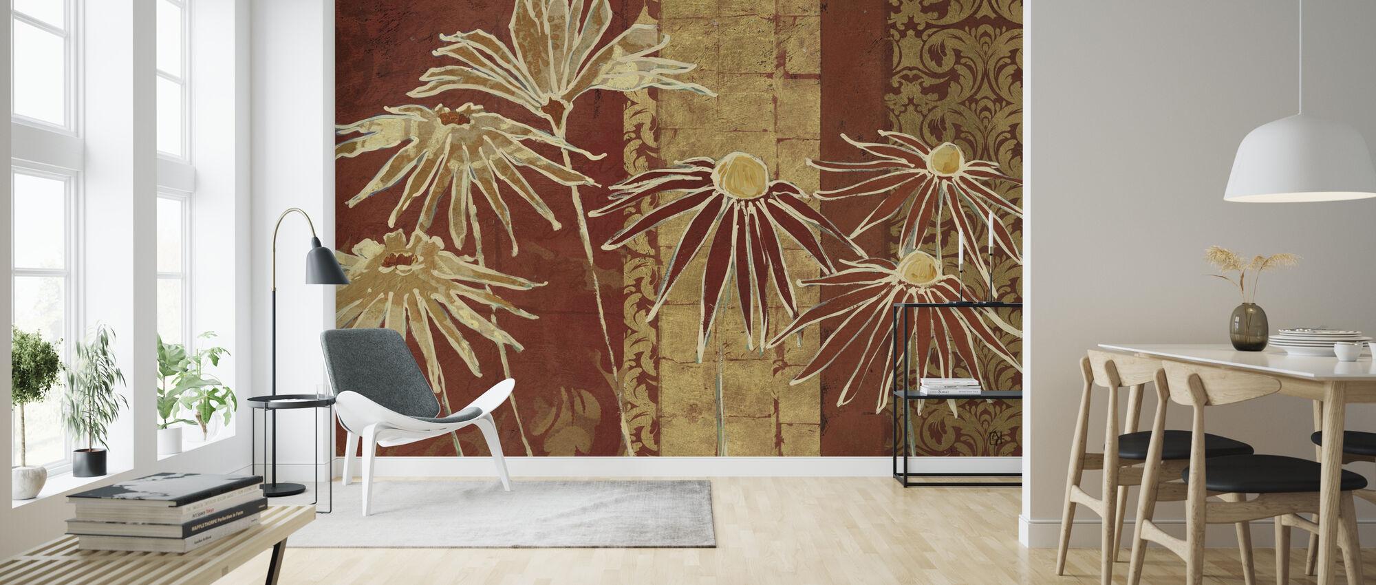 Avery Tillmon - Flowers on Spice - Wallpaper - Living Room