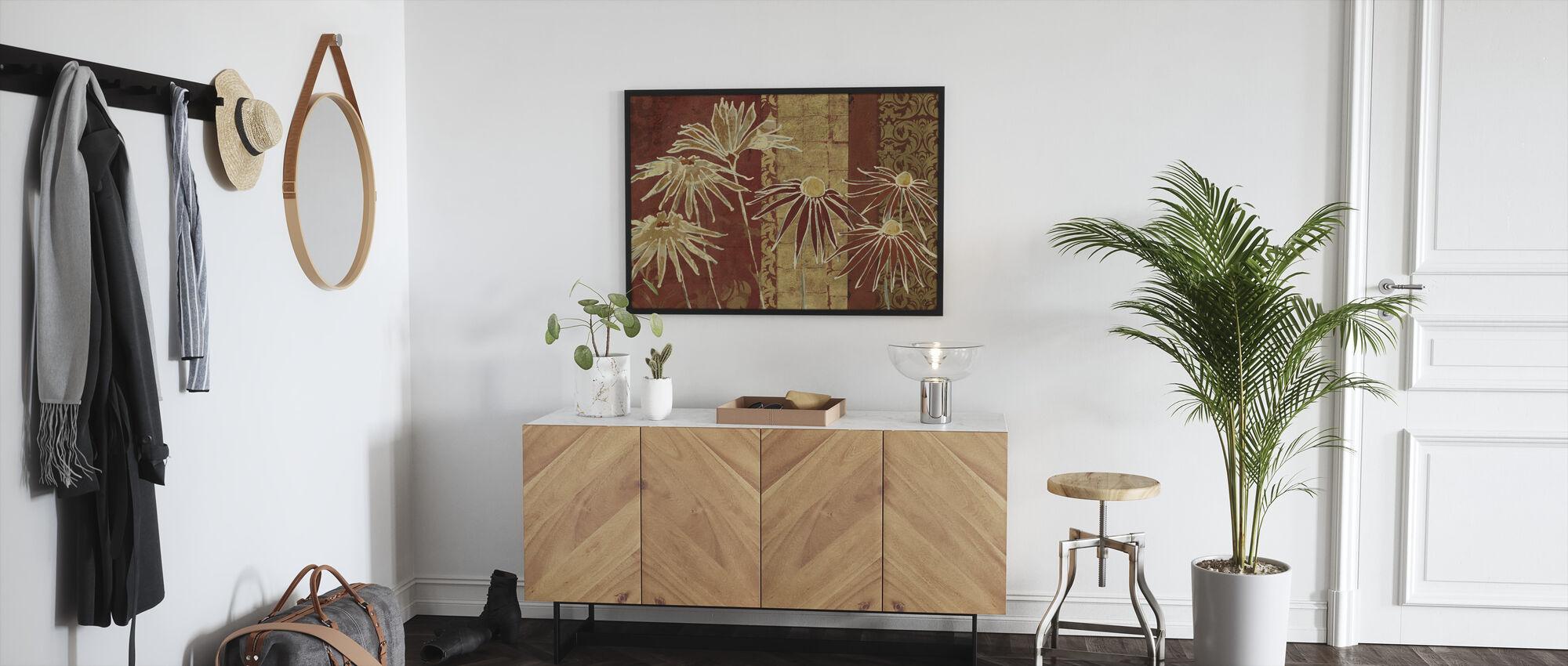 Avery Tillmon - Flowers on Spice - Framed print - Hallway