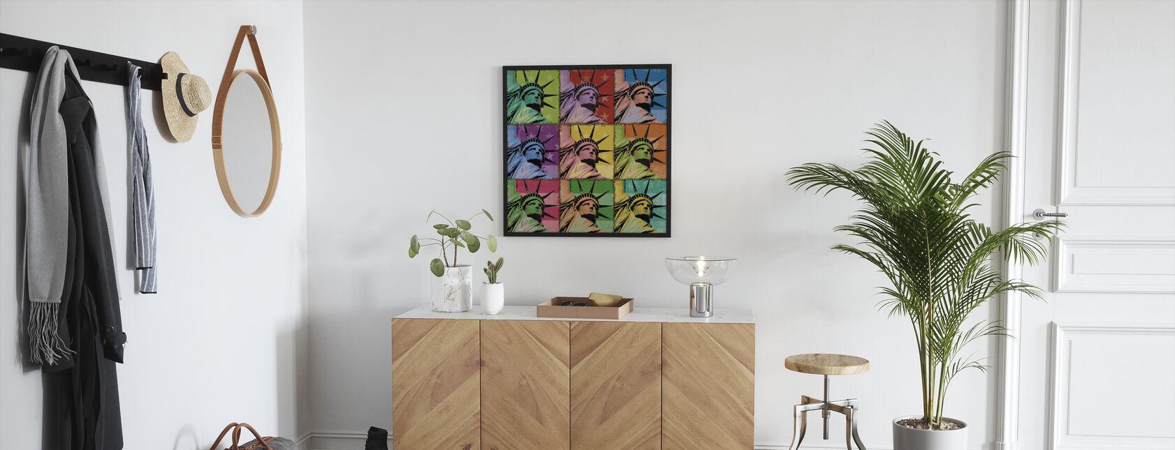 Pop Liberty - Framed print - Hallway