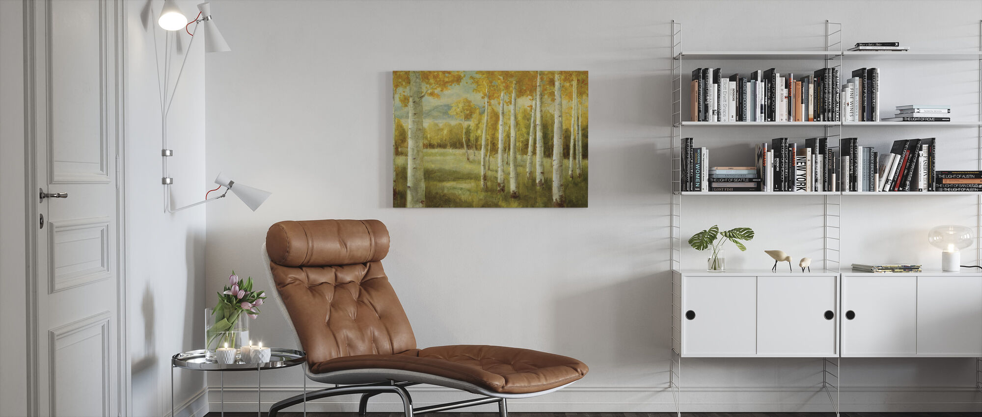 Aspen Birches - Canvas print - Living Room