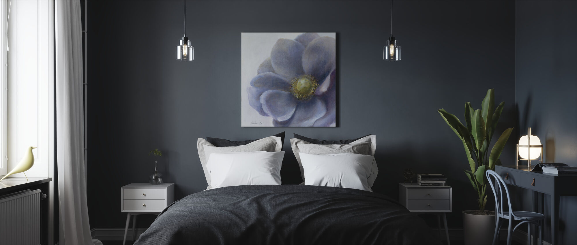 Contemporary Anemone - Canvas print - Bedroom