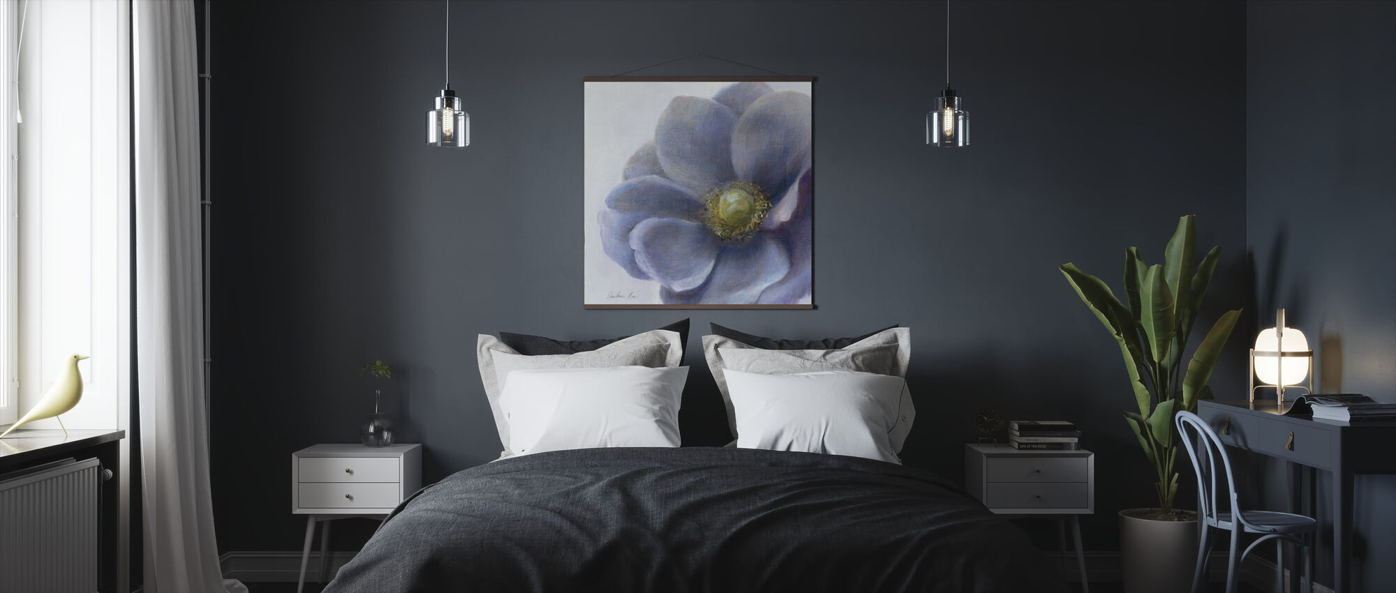 Contemporary Anemone - Poster - Bedroom