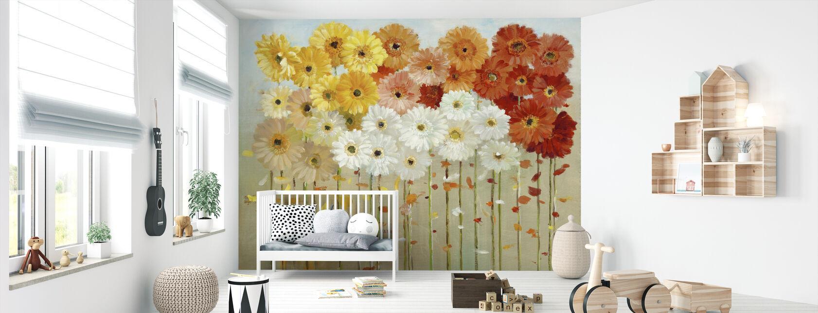 Daisies Fall - Wallpaper - Nursery