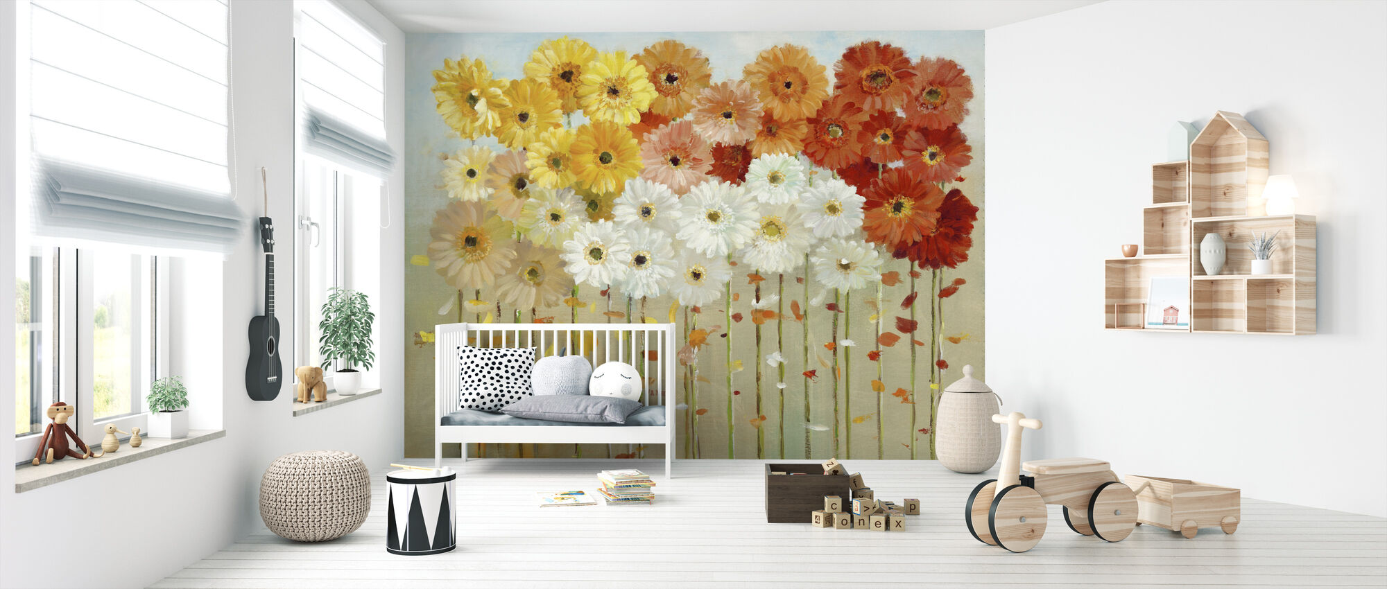 Daisies Fall - Wallpaper - Nursery