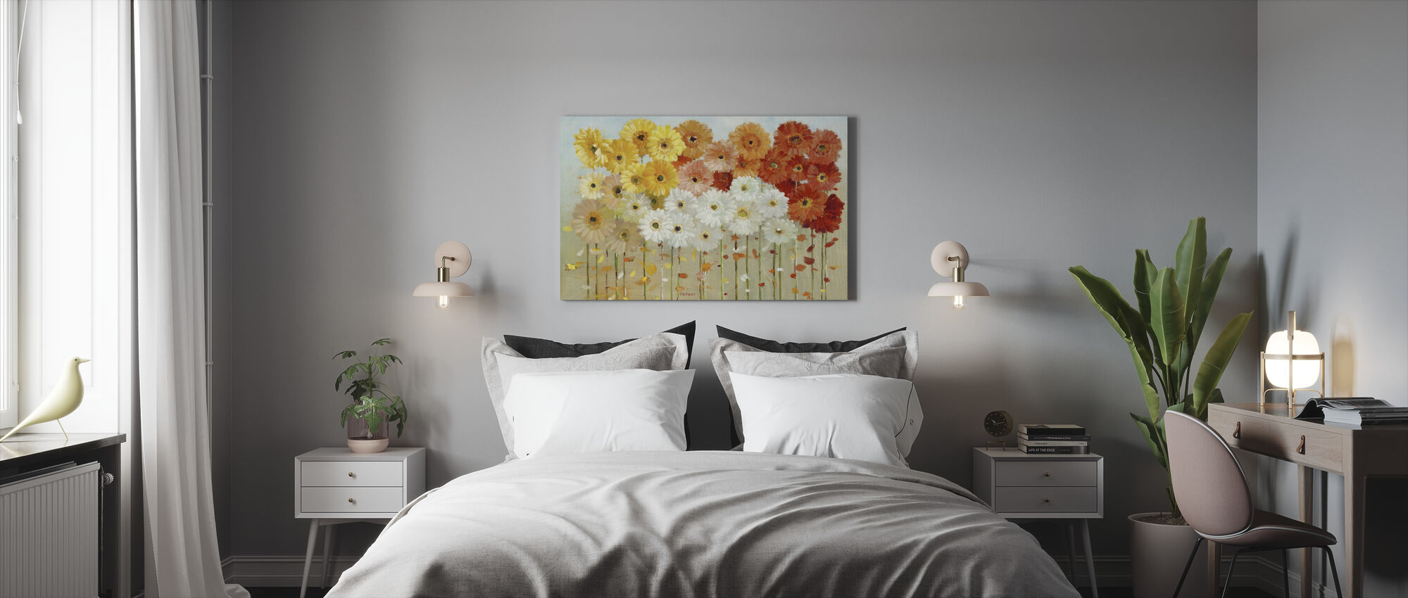 Daisies Fall - Canvas print - Bedroom
