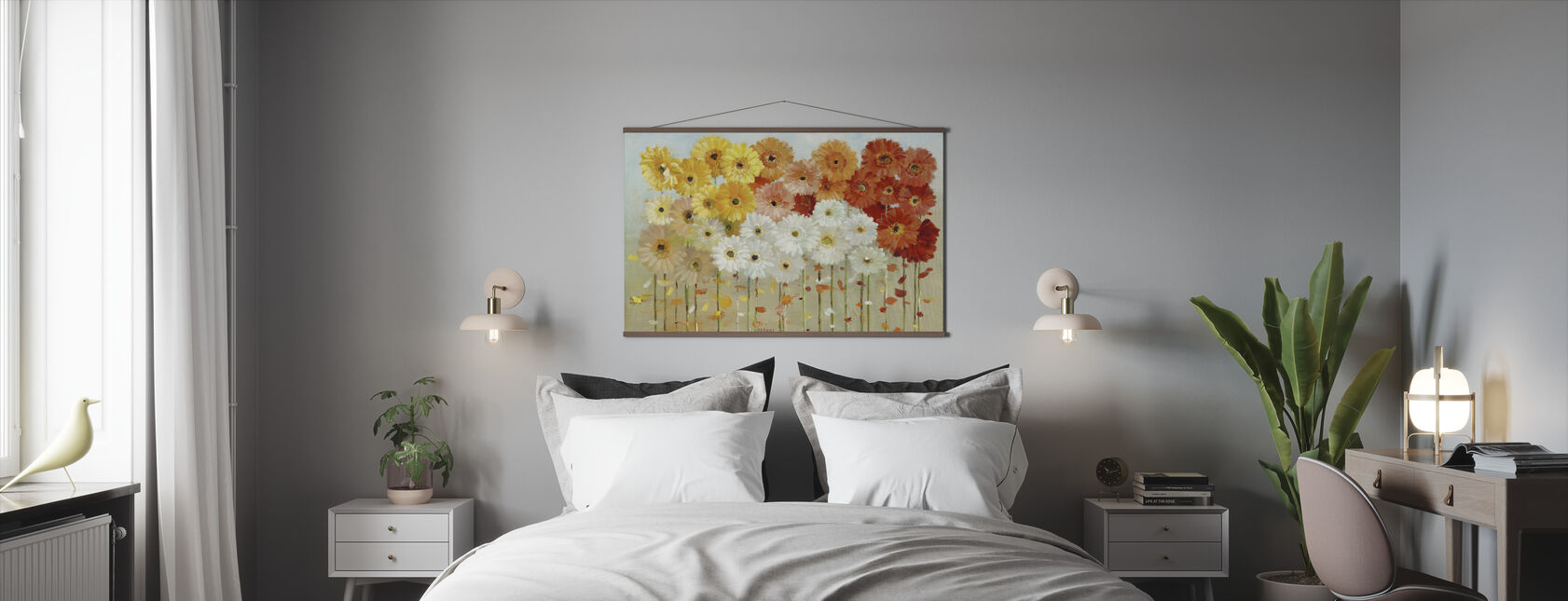 Daisies Fall - Poster - Bedroom