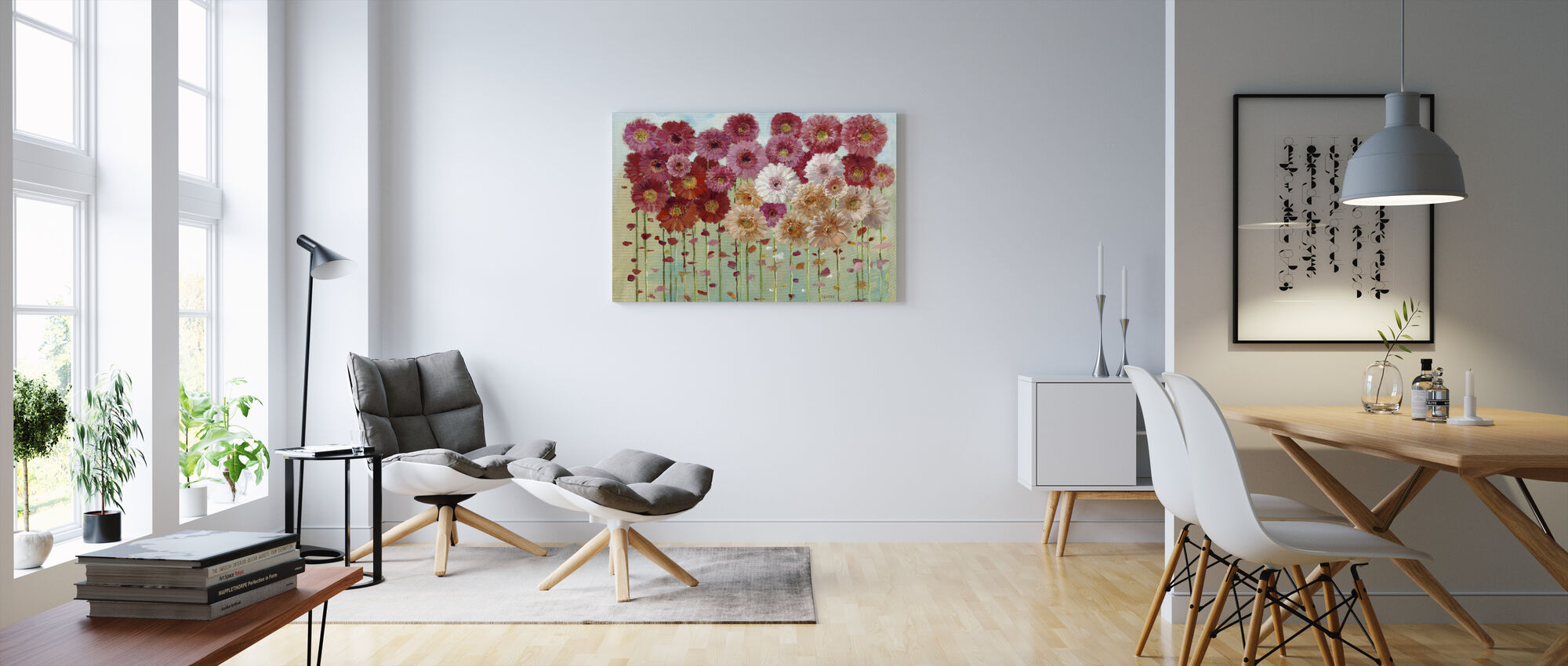 Daisies Spring - Canvas print - Living Room