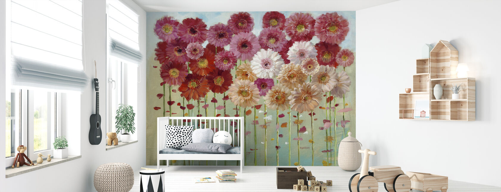 Daisies Spring - Wallpaper - Nursery