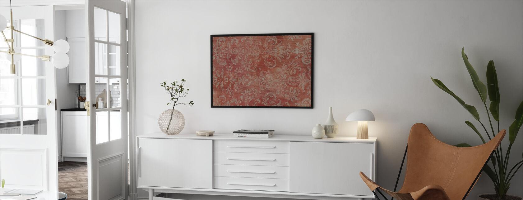 Damask Texture - Framed print - Living Room