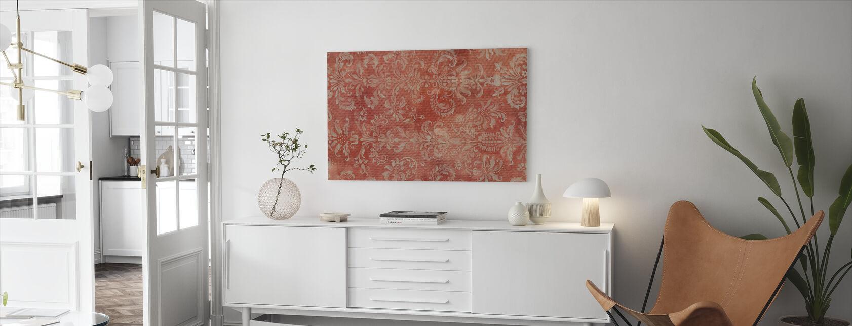 Damast Textuur - Canvas print - Woonkamer