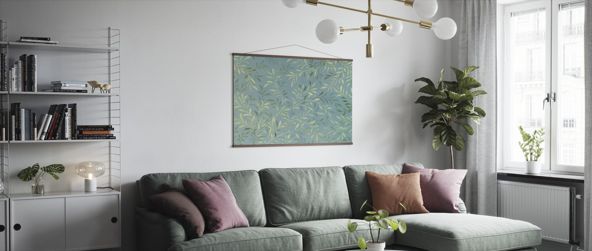 Leaves on Blue - Poster - Living Room