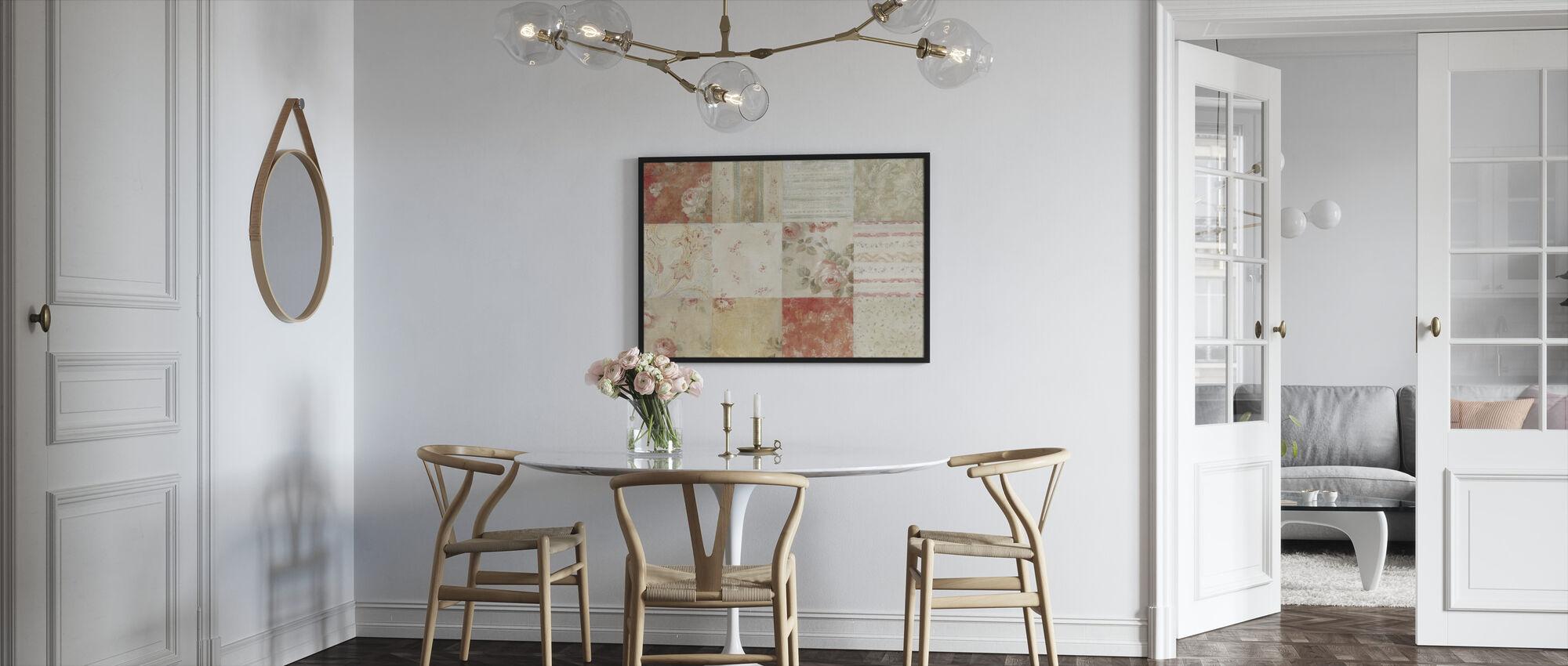 Quilt 12 Block - Framed print - Kitchen