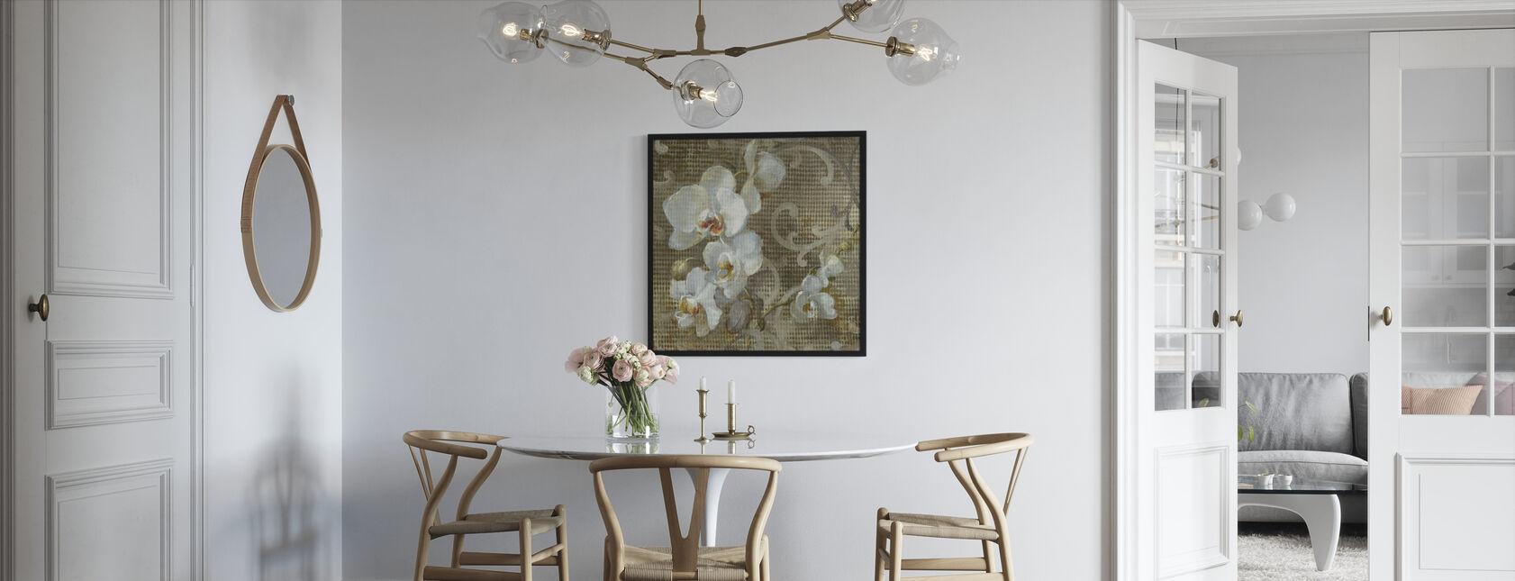 Carré orchidée blanche - Impression encadree - Cuisine