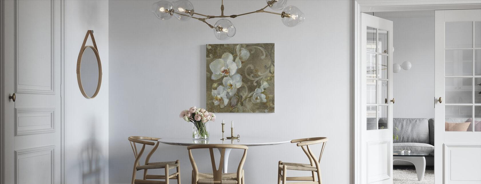 Valkoinen Orkidea-aukio - Canvastaulu - Keittiö