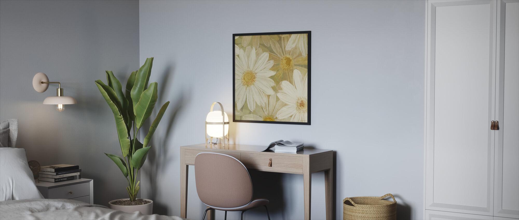 Daisy Story Square II - Framed print - Bedroom