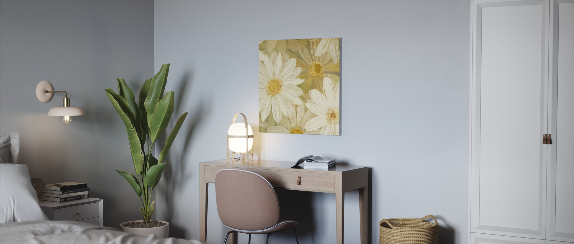 Daisy Story Square II - Canvas print - Kantoor