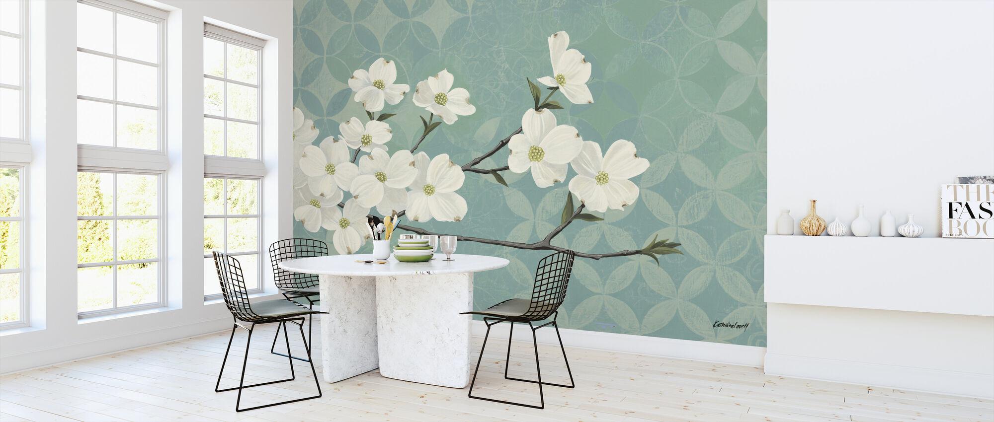 Dogwood Blossoms - Wallpaper - Kitchen